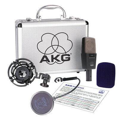 AKG C414-XLS Condenser Microphone With Shockmount, Pop & Carrying Case • 684£