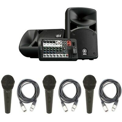 Yamaha STAGEPAS 400BT PA System W/ Bluetooth, 3 Peavey Mic & XLR Cable Packs • 589.05£