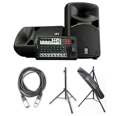 Yamaha STAGEPAS 600BT Portable PA Sys W/ BT,Audio Cable & SSB-101 Speaker Stands • 749.34£