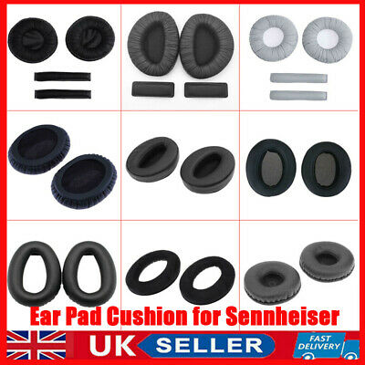 UK Black Soft Ear Pads Cushion Kit For Sennheiser Headphones Replacement Pads • 7.43£