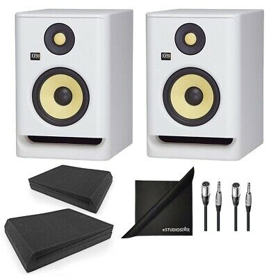 KRK RP5G4WN Rokit Gen 4 5'' Studio Monitors White W/ AxcessAbles Accessories • 288.20£