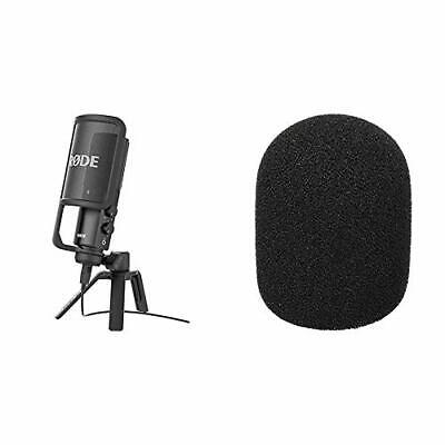 Rode NT-USB Microphone, Black & WS2 Pop Filter/Wind Shield For NT1, NT1-A, • 203.99£