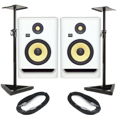 KRK Rokit RP7 G4 White Noise (Pair) With Stands & Cables • 487.98£