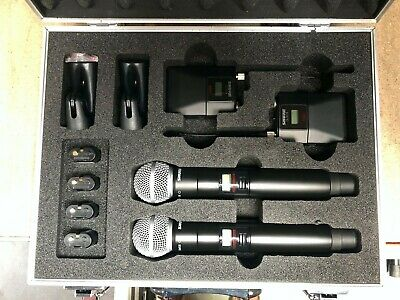 Shure QLXD2 Beta58a And Shure QLXD1.Case Of 2 Of Each & 4 Shure SB900 Batteries. • 1,250£