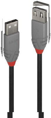 LINDY 36701 USB 2.0 Type A Extension Cable, Anthra Line - Black, 0.5m, Black  • 13.97£