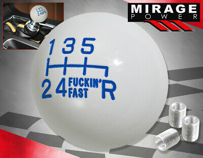 For Nissan Jdm Vip Twist-On Round Ball Type 6Spd Manual Lever Shift Knob Blue • 14.40£