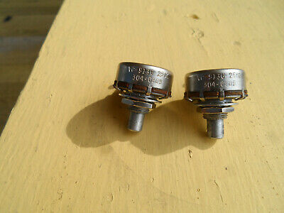 Vintage matched set of 1968 250K Stackpole pots for Telecaster P Bass Mustang