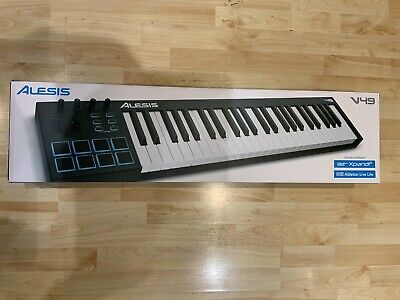 Alesis V49 - 49-Key USB MIDI Keyboard Controller With 8 Backlit Pads, 4 • 45£