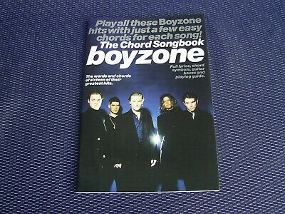 BOYZONE THE CHORD SONGBOOK - WISE PUBLICATIONS 1999 1st Ed NEAR MINT *LOW PRICE*