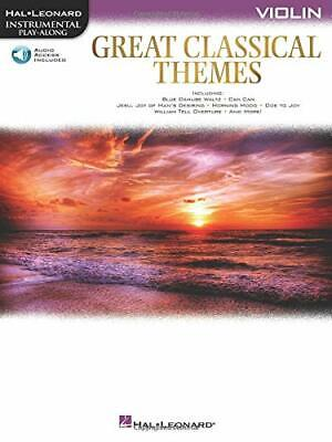 Great Classical Themes: Violin (Hal Leonard Instrumental Play-along) By Hal L… • 14.43£