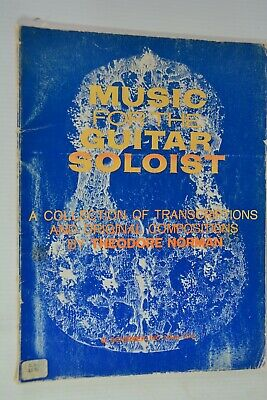 Sheet Music Music for the Guitar Soloist Theodore Norman Transcriptions