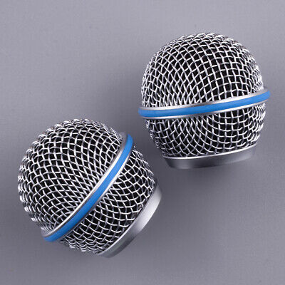 2Pcs Mic Ball Head Mesh Microphone Grille Cover Assy Fit For Shure Beta58A SM58 • 7.59£