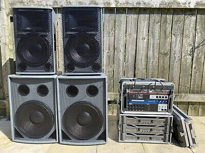 Complete PA RCF Speakers Crown XTI4002 Amps Soundcraft Ui16 Mixer Sennheiser Mic • 5,000£