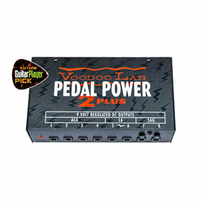 Voodoo Labs Pedal Power 2 Plus Pedalboard Power Supply, 8x 9V Regulated Outputs,