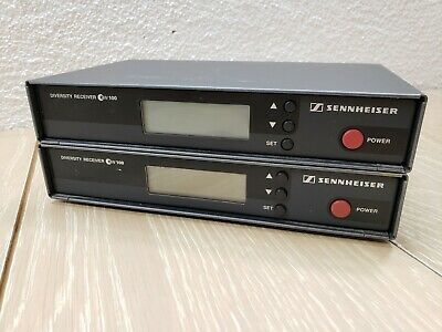 Two (2) SENNHEISER ew100 Diversity Receivers (em100) Made in Germany - UNTESTED