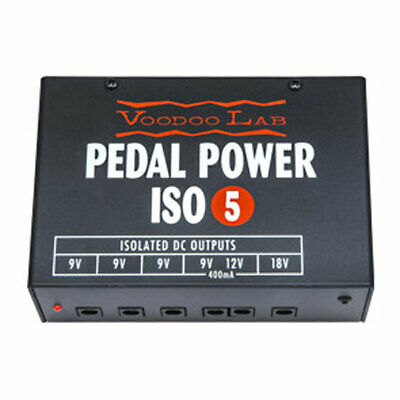 Voodoo Labs Pedal Power ISO-5 Pedalboard Power Supply, 5 Isolated Outputs, 9V, 1
