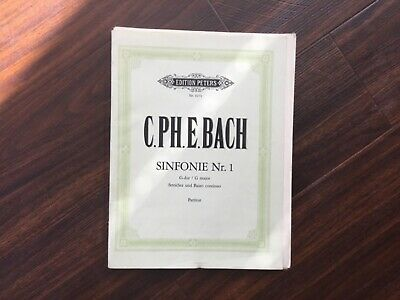 C.P E. Bach Sinfonie Nr.1 Full Score and Parts String Orchestra. Peters Edition