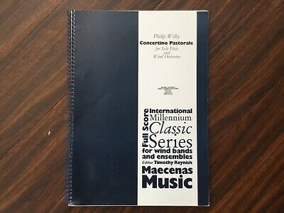 Score only of Concertino Pastorale by Philip Wilby for Symphonic Wind Ensemble.