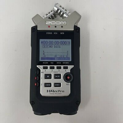 Zoom H4n Pro Portable Four-Track Audio Recorder - Black (ZH4NPROAB)