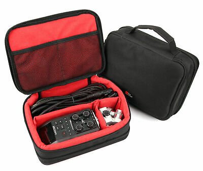Storage Case With Red Adjustable Inserts Zoom H4N Pro / H5 / H6 Audio Recorder • 18.99£