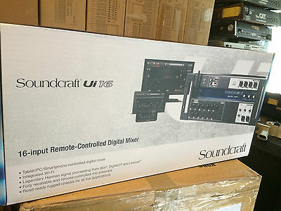 Soundcraft Ui16 16-input Remote-controlled Digital Mixer With Wi-Fi,new //ARMENS • 356.96£