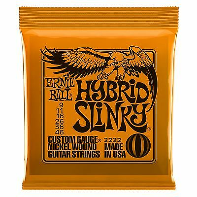 Ernie Ball Hybrid Slinky Nickel Wound Electric Guitar Strings Gauge 9-46 • 7.69£