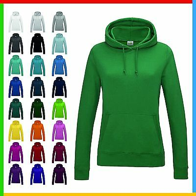 LADIES HOODIE, AWDIs Girlie College Hoodie, Front Pouch, Soft Ringspun Cotton • 12.99£