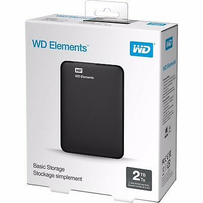Western Digital Elements  2TB 2.5  Portable External Hard Drive 2 TB For PS3 4 • 72.99£
