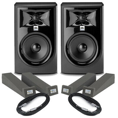 JBL LSR305P MKII Pair 5  Active Studio DJ Monitor Speakers + Pads & Cables Mk2 • 209£