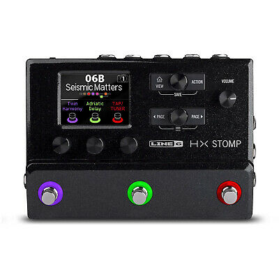 Line 6 HX Stomp Compact Multi-Effects Unit Featuring Helix Effects **BRAND NEW** • 430.10£