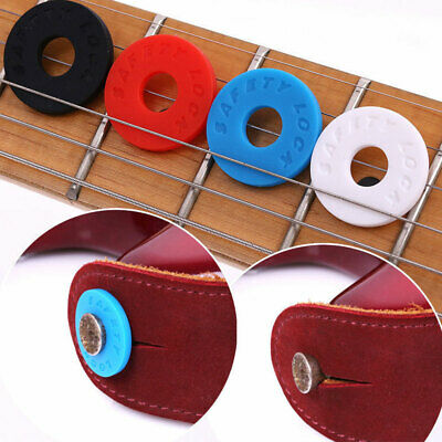4x/Set Rubber Fender Strap Blocks Strap Lock System For Guitar Bass Ukulele • 2.51£