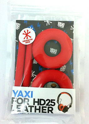 RED Yaxi Leather Replacement Pads For Sennheiser HD25 Mk II, Fits All HD25 Range • 34.99£