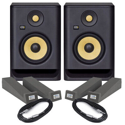 KRK Rokit RP5 G4 Pair Active DJ Studio Monitor Speakers, Isolation Pads & Cables • 271£