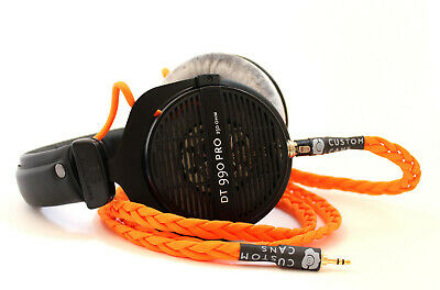 Uber Beyerdynamic DT990 Pro Detachable Stereo Litz Cable & Modded Drivers 250Ω • 215£