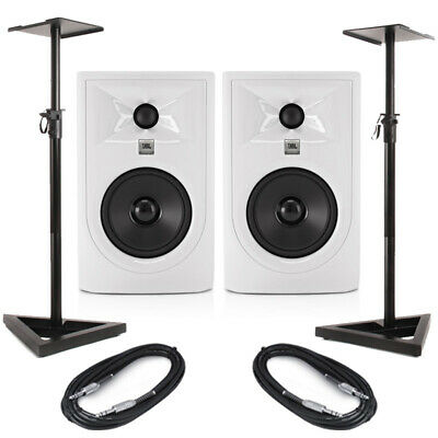 JBL LSR305P MKII - White (Pair) With Stands & Cables • 219£