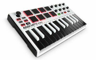 Akai Professional USB MIDI Keyboard 8 Pad MPK Mini MK2 WHITE Limited New JP F/S • 91.30£