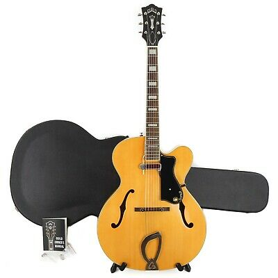 Guild A-150 Savoy Hollowbody Archtop Electric Guitar W/ Case – Blonde • 672.53£