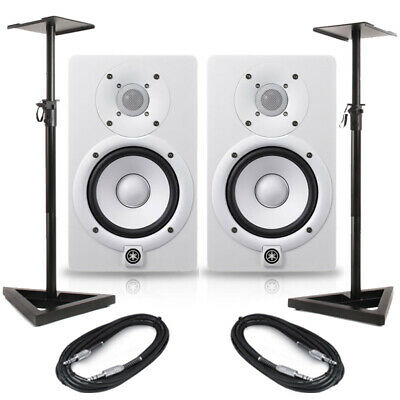 Yamaha HS5 White (Pair) With Stands & Cables • 314.50£