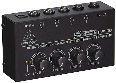 Behringer HA400 Microamp 4 Channel Stereo Headphone Amplifier • 19.82£