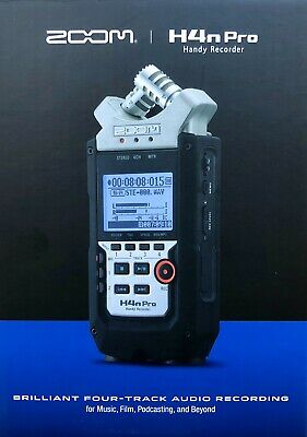 Zoom H4n Pro Portable 4-Track Audio Recorder (NEW) • 199£