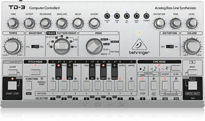 Behringer TD-3-SR Analog Bass Line Synthesizer With VCO, VCF, 16-Step Sequencer • 120.30£