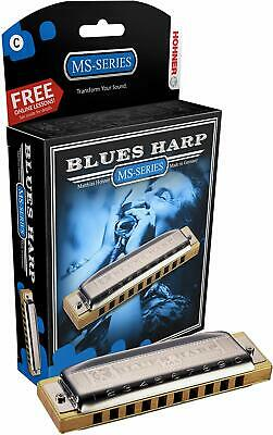 *New* Hohner MS-Series Blues Harp Harmonica (C, Eb, E, F, G, Bb Keys) • 37.60£