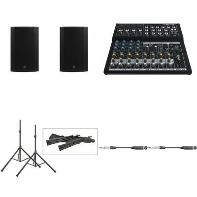 Mackie Thump15A Pair With Mixer, Stands & Cables • 626£