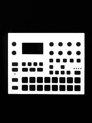 Blank White Overlay Card For The Elektron Digitakt Sound Module (by Novalays) • 7.99£