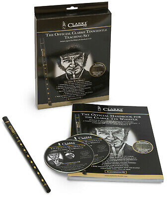 The Official Clarke Tinwhistle Teaching Set - Includes Original Whistle In D • 30.90£