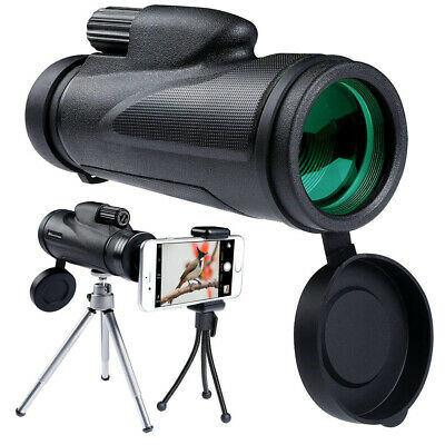 12*50 Telescope Outdoor Lens Hiking BAK4 Focus Zoom Optical Monocular HD J9R8G • 12.28£