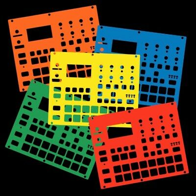 5 Colour Pack Of Overlay Cards For The Elektron Digitakt (by Novalays) • 28.99£