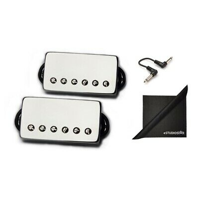 Bare Knuckle Pickups Boot Camp True Grit Humbucker Set Nickel w/ Patch Cables