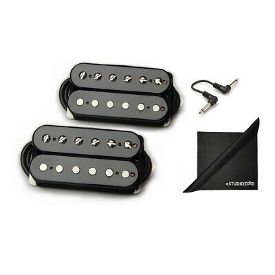 Bare Knuckle Pickups Boot Camp True Grit Humbucker Set Open Black w/Patch Cables