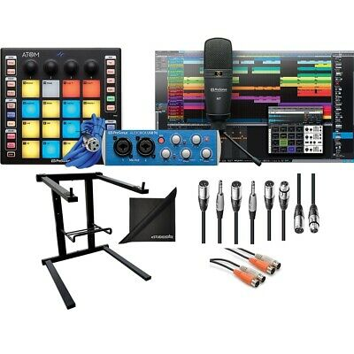 PreSonus ATOM Producer Lab Prod Kit With Cables, Laptop Stand, EStudioStar Cloth • 237.11£
